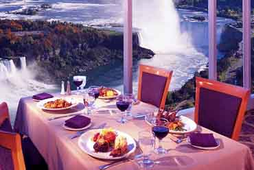 View of the Penthouse Dining at the Sheraton On The Falls Hotel, Niagara Falls, Ontario Canada