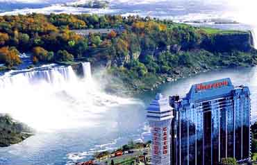 View of the Sheraton On The Falls Hotel, Niagara Falls, Ontario Canada