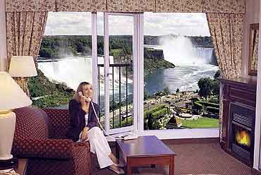 View of a Guest Accommodation at the Sheraton On The Falls Hotel, Niagara Falls, Ontario Canada