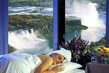 View of Offered Therapy by the Christienne Spa at the Sheraton On The Falls Hotel, Niagara Falls, Ontario Canada